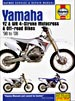 Haynes Manual - Yamaha YZ and WR 4-Stroke Motocross and off-road Bikes (1998 to 2008)