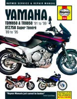 Yamaha TDM850, TRX850 and XTZ750 Haynes Manual