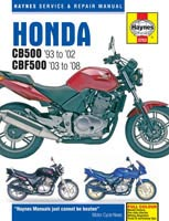 Honda CB500 and CBF500 Haynes Manual
