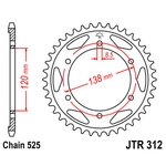 JT Rear Sprocket JTR312-40