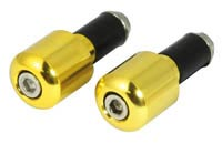 Gold Slim 18mm Bar End Weights