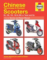 Haynes Manual - Chinese, Taiwanese, Korean Scooter