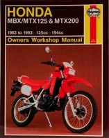 Haynes Manual - Honda MBX & MTX125/200