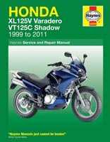 Honda XL125V and VT125 (99 to 11) Haynes Manual