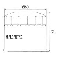 Hiflo Oil Filter - HF134 Approximate Dimensions
