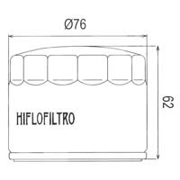 Hiflo Oil Filter HF160 Approximate Dimensions