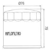 Hiflofiltro Oil Filter HF163 Approximate Dimensions