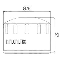 Hiflo Oil Filter - HF184 Approximate Dimensions