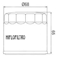 Hiflofiltro Oil Filter HF191 Approximate Dimensions