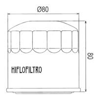 Hiflo Oil Filter - HF202 Approximate Dimensions