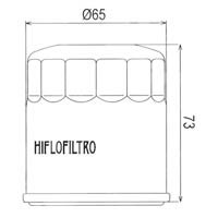 Hiflo Oil Filter - HF303 Approximate Dimensions