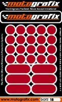 Motografix Strips and Dots - Dark Red