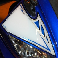Yamaha YZF-R125 Blue / White Motografix Front Number Board