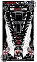 Motografix Rear Number Board - Triumph ST 1050