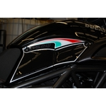 Ducati Diavel 1200 Motografix Knee Section Number Board 3D Gel Protection System (KD007K Shown Fitted)