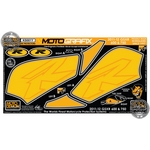 Suzuki GSX-R750 Yellow Motografix Knee Boards