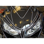 Honda CBR1000RR Fireblade Black Motografix Front Fairing Number Board 3D Gel Protection System (NH021KK shown fitted)