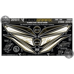 Kawasaki Z1000 Black / White / Gold Motografix Front Fairing and Rear Seat Unit Number Boards 3D Gel Protection System (NK019AU)