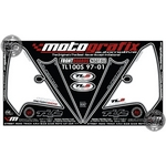 Suzuki TL1000S (1997 to 2001) Black / White Motografix Front Fairing Number Board 3D Gel Protection System (NS015U)