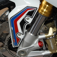 Example of BMW S1000RR Motografix Front Mudguard protectors fitted