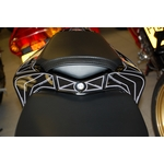 Honda CBR1000RR Fireblade Black Motografix Rear Seat Unit Number Board 3D Gel Protection System (RH014KK)