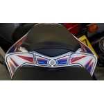 Honda CBR1000RR Fireblade Red / White / Blue Motografix Rear Seat Unit Number Board 3D Gel Protection System (RH014RWB shown fitted)