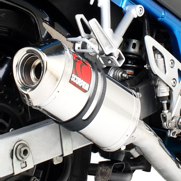 Suzuki GSF600 / GSF650 Bandit Stainless Steel Scorpion Carbine Exhaust End Can / Silencer (with Stainless steel outlet)