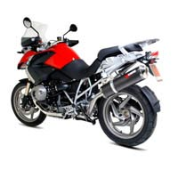 BMW R1200GS Scorpion Carbon Fibre Oval Factory Exhaust (with Stainless Steel oulet)
