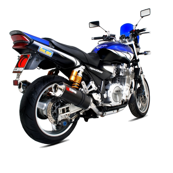 Yamaha XJR1300 Carbon Fibre Scorpion Factory Exhaust End Can / Silencer (with stainless steel outlet)