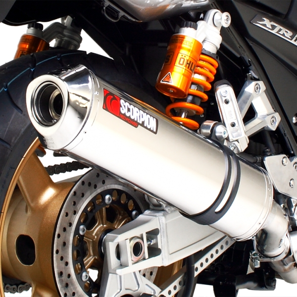 Yamaha XJR1300 Stainless Steel Scorpion Factory Exhaust End Can / Silencer (with stainless steel outlet)