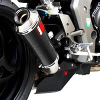 Honda CB1000R Scorpion Carbon Fibre Power Cone Oval Silencer / Exhaust (with stainless steel outlet)