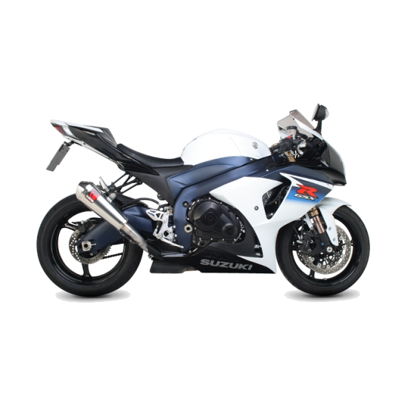 Suzuki GSX-R1000 Scorpion Twin Stainless Steel Power Cone Exhaust End Can / Silencer (with Stainless Steel outlet)