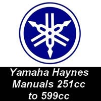 Haynes Manuals for Yamaha Motorcycles from 251cc up to 599cc
