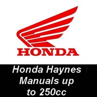 Haynes Manuals for Honda Motorcycles up to 250cc