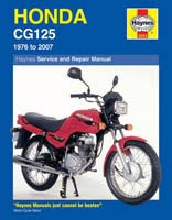 Honda CG125 (1976 to 2007) Haynes Manual