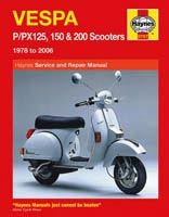 Haynes Manual - Vespa P/PX125, 150 and 200