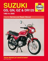 Suzuki GS125, GN125, GZ125 and DR125 Haynes Manual