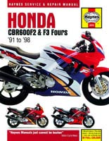 Honda CBR600F (1991 to 1998) Haynes Manual
