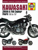 Haynes Manual - Kawasaki Zephyr 550 and Zephyr 750