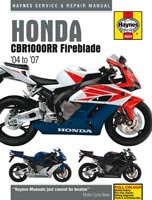 Honda CBR1000RR (2004 to 2007) Haynes Manual