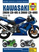 Kawasaki ZX-6R (2003 to 2006) Haynes Manual