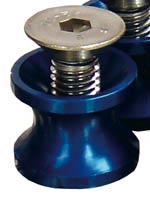 Swinging arm bobbin spools - Blue