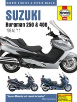 Suzuki AN250 and AN400 Burgman Haynes Manual