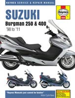 Suzuki Burgman AN250 and AN400 Burgman Haynes Manual