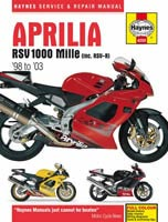 Aprilia RSV1000 Mille (1998 to 2003) Haynes Manual