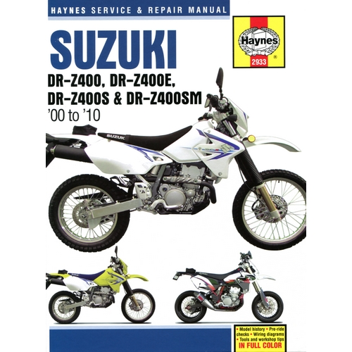 Suzuki DR-Z 400 and DR-Z 400E Servicing and Maintenance