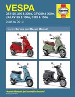 Haynes Manual - Vespa GTS, GTV, LX and S Models