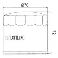 Hiflo Oil Filter - HF153 Approximate Dimensions
