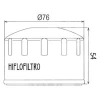 Hiflofiltro Oil Filter HF164 Approximate Dimensions