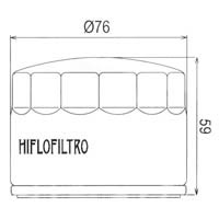 Hiflo Oil Filter - HF552 Approximate Dimensions